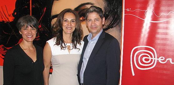 Renée Wilson, de Prom Peru;  Patricia Pérez directrice générale et Camillo Aguila président de Canandès International Tours.