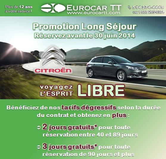 Eurocar TT prolonge sa PROMOTION JOURS GRATUITS