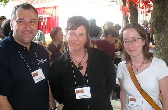 La délégation de Tours Chanteclerc: Régis Boileau, Josée Boucher et Catherine Longpré