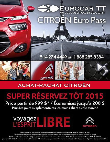 Achat-rachat Citroën: le super Réservez-tôt se prolonge