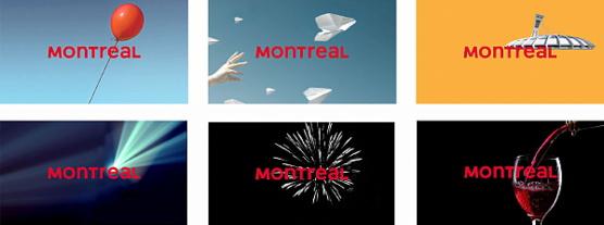 Déclinaisons du logo de Tourisme Montréal (Groupe CNW/Tourisme Montréal)