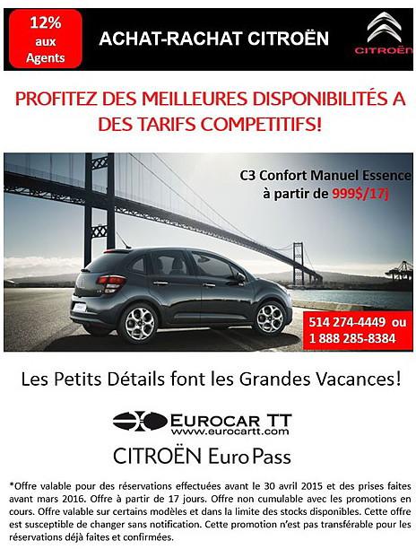 Achat-Rachat Citroën: « Les Petits Détails font les Grandes Vacances ! »