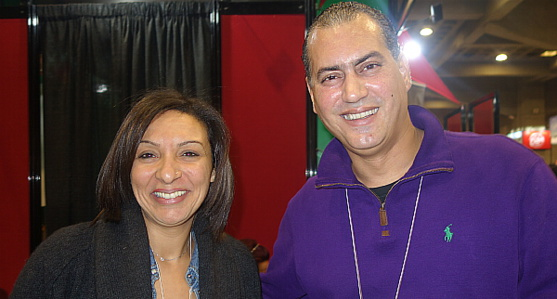 Kenza Soubaa, reponsable de l'Office du Tourisme du Maroc à Montréal et Zakaria Mahsen, directeur Canada de Royal Air Maroc