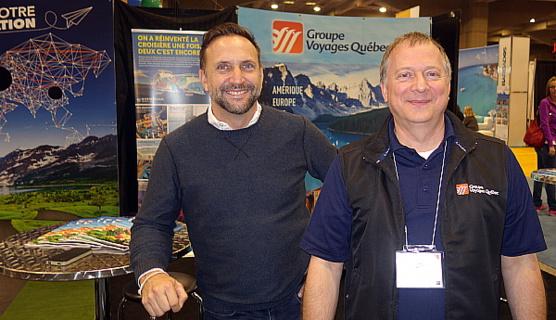Jean-Michel Duffaut et Marc Belzile de Groupe Voyages Québec