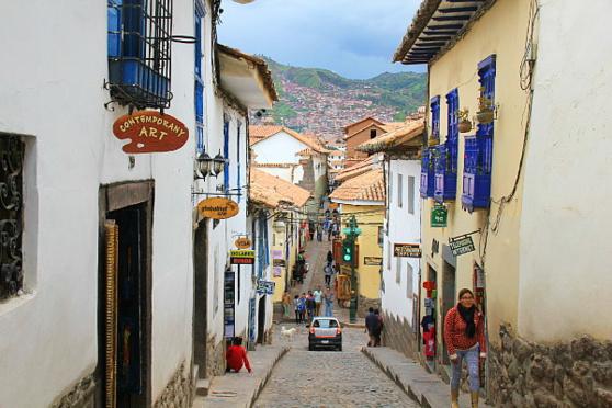 Cusco se trouve dans une cuvette, encerclée par les montagnes