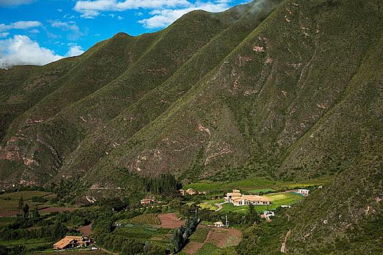 Vue sur la vallée (Photo Inkaterra hacienda)