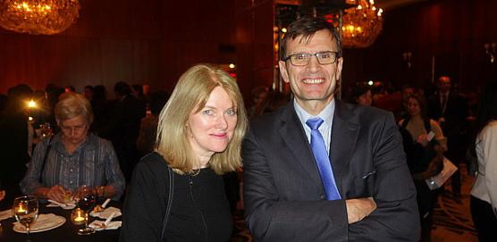 Diane Audet, chargée des communications et Jean-Noël Rault, vice-président et directeur général d'Air France KLM au Canada