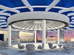 Le Sky observation lounge  (rendu artistique)