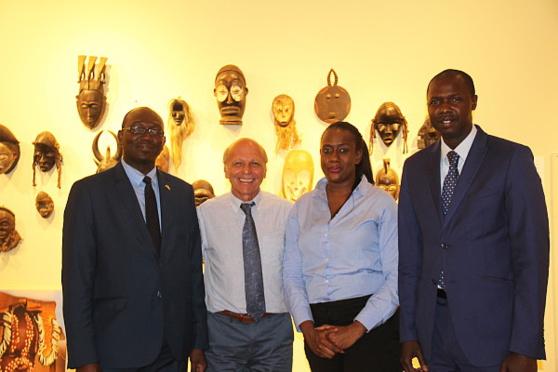 Zaccaria Coulibaly (chef bureau économique à l'ambassade du Sénégal au Canada), Patrice Malacort (rep. Brussels Airlines), Ramatoulaye Ba (rel. publiques pour ASPT) et Aly Sidy Mbar Sow (directeur études et prospectives pour ASPT)