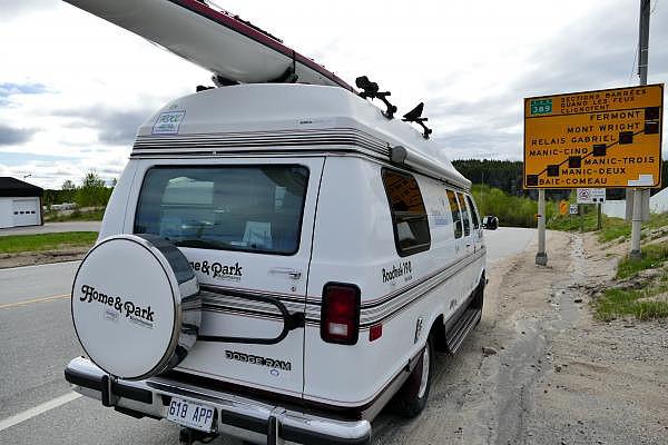 Le départ, à Baie Comeau.