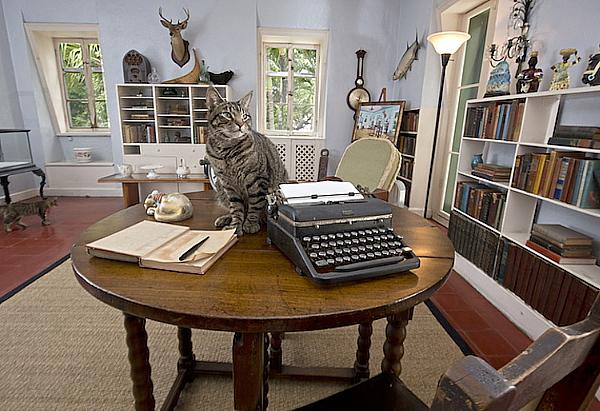 Le bureau d'Hemingway. Crédit : Fla-Keys
