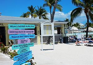 La petite plage de Key West avec son café où les brunchs face à la mer sont agréables et délicieux!