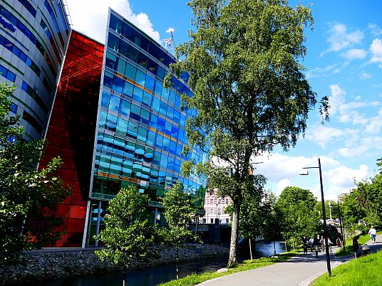 Une ville d'architecture moderne