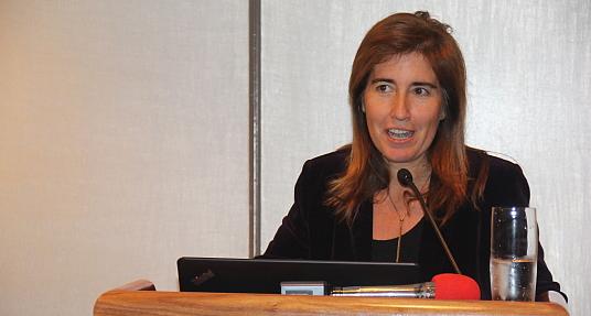 Ana Mendes Godinho, la Secrétaire d'État au tourisme du Portugal, s'est adressée aux invités.