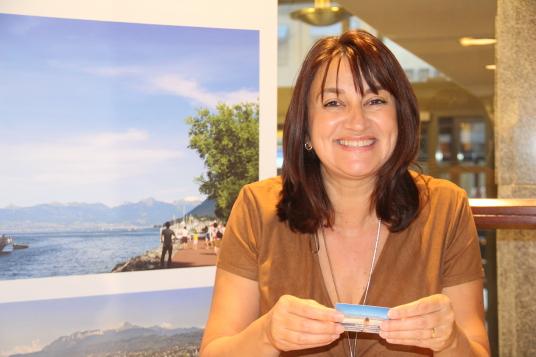 Frédérique Alléon, d'Évian Tourisme.