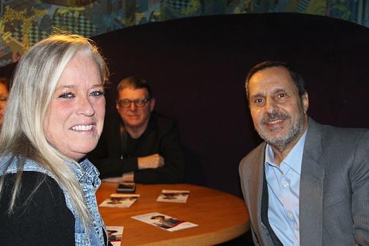 Manon Martel d'ACTA Québec et Emad Elturaby, Vice-Président de Tours Cure-Vac