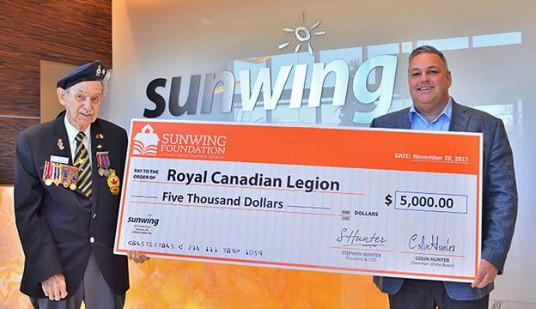 La Fondation Sunwing honore les anciens combattants