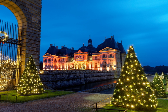 Le Château de Vaux-le-Vicomte propose toujours des animations des Fêtes, très populaires ( Crédit : Collectif Image)