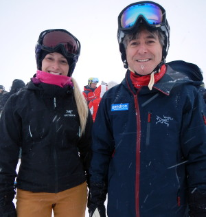 Jennifer Brousseau, de Sportvac, et Paul Dubrûle, de Gendron, sur les pistes du Grand Massif-A.Pelouas