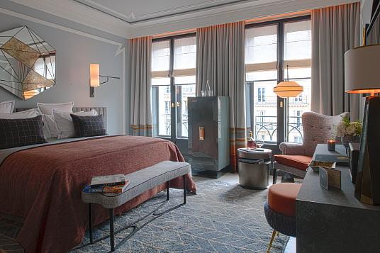Le Nolinski, un hôtel boutique très stylisé ( Crédits : Nolinski Paris-G. de Laubier )