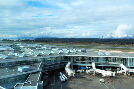 Hôtel Fairmont Vancouver Airport, vue sur les jetées