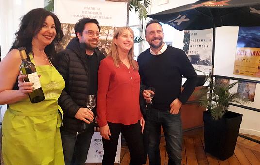 Soirée Surf et Vins réussie pour la Nouvelle-Aquitaine avec Bordeaux et Biarritz-Pays Basque