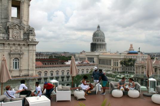 La terrasse du Kempinski, avec sa vue sur le Capitole