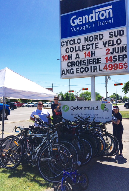 Deux agences collectent des vélos pour Cyclo Nord Sud