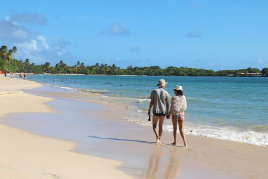 La plage des Salines est considérée comme l'une des plus belles