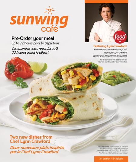 La Chef Lynn Crawford est de retour à bord de Sunwing Airlines avec deux nouveaux plats et le lancement d'un nouveau concours passionnant