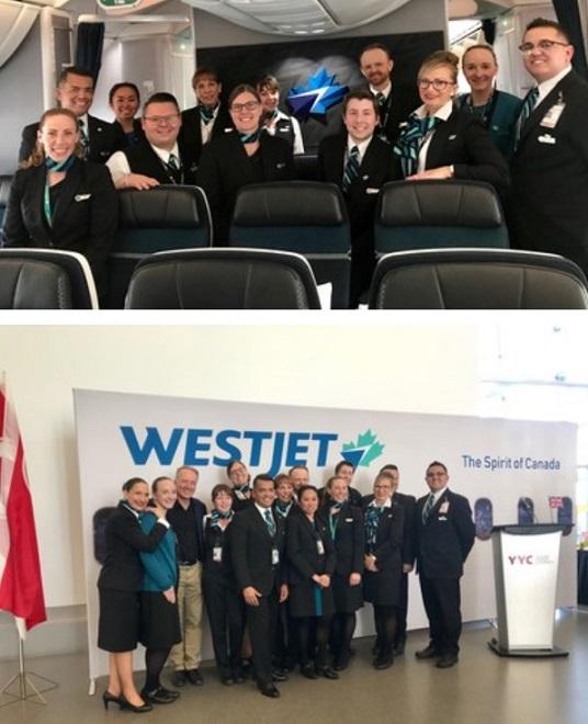 Le Dreamliner de WestJet effectue son premier vol transatlantique