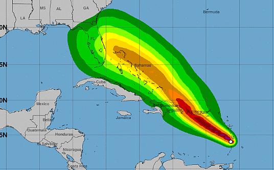 Des croisières perturbées par la tempête tropicale Dorian