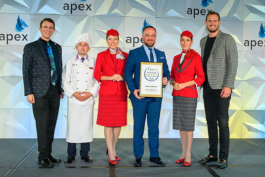 """Turkish Airlines nommé """"2020 Five Star Global Airline"""" aux APEX Awards"""