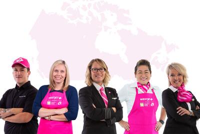 WestJet arbore le rose en appui à un avenir sans cancer du sein