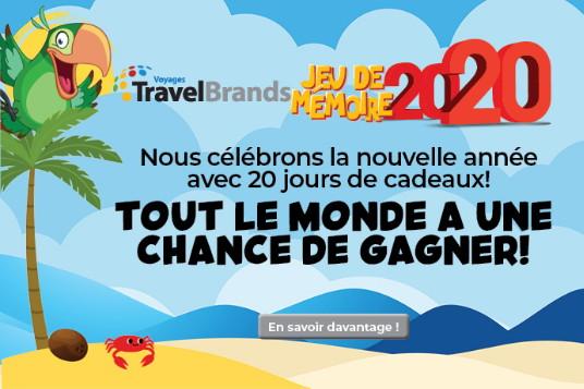 Commencez la nouvelle année avec le jeu du Match 2020 de Voyages TravelBrands