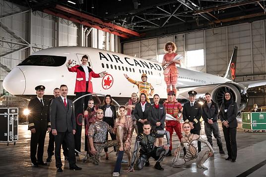 Air Canada et le Cirque du Soleil annoncent un partenariat international (Groupe CNW/Air Canada)