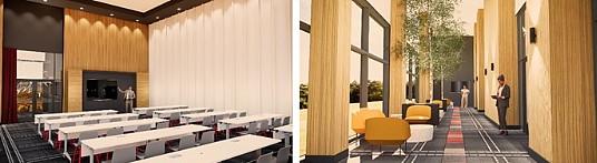 Espace foyer corporatif et une des trois salles de réunions de Club Med Québec Charlevoix