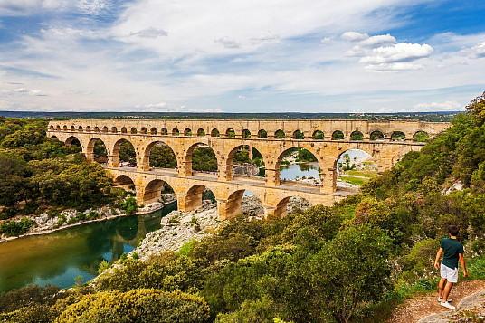 Le pont du Gard est le plus haut aqueduc du monde romain à trois niveaux © Aurélio RODRIGUEZ - Site de Pont du Gard