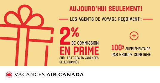 Vacances Air Canada souligne la journée de l'agent de voyages avec un incitatif