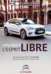 La Brochure électronique 2014 – sur la couverture la nouvelle Citroën DS4 –