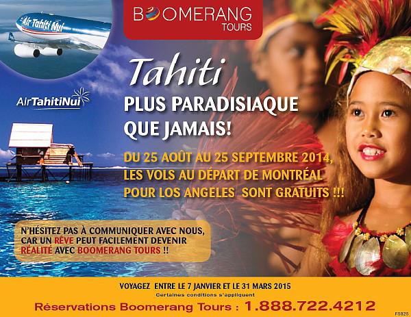 Promotion de Boomerang Tours sur Tahiti
