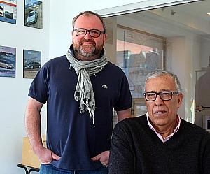 Erwan Even, président et Lotfi Chaouachi, représentant des ventes d'EurocarTT