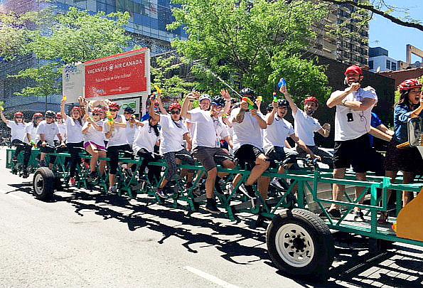 Vacances Air Canada pédale pour les enfants